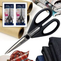 2 Pairs X-Acto Multi-Material Scissors Set 3MM Steel Blades Craft Sewing X3301 (Pack of 2)