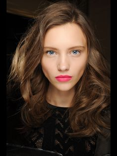 models make-up on DvF show fall 2013