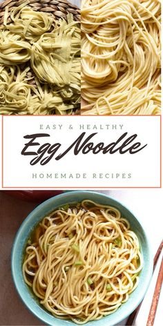 Homemade egg noodle from scratch using simple ingredients is easy & yummy. Perfect to make Chow Mein or Yang Chun noodle soup.