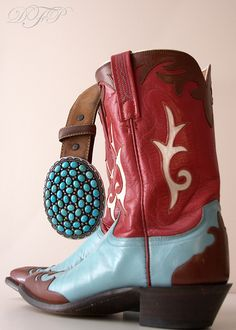 red cowboy boot