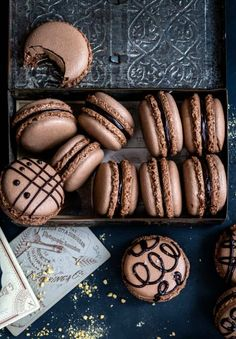 Chocolate Macarons Recipe - Supergolden Bakes Best Chocolate, Delicious Chocolate, A Food, Food And Drink, Greek Potatoes, Liquid Food Coloring, How To Make Macarons, Prawn Curry, Coconut Milk Curry