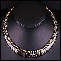 Leopard Collar Necklace #collar necklace #statement necklace #leopard necklace