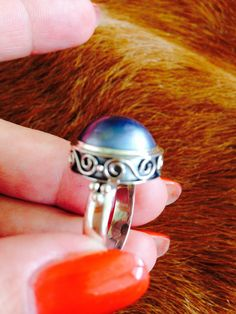 Blue Pearl Ring in Sterling silver hand made by balijewels on Etsy, $49.00