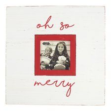 Oh So Merry Christmas Picture Frame