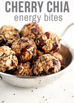 Cherry Chia Energy Bites | Some the Wiser. My snack instead of high-sugar cookies to go along with afternoon tea.