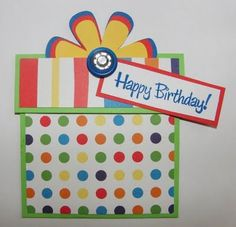 easy bday present Birthday Card Cute Birthday Cards, Handmade Birthday Cards, Birthday Ideas, Card Making Designs, Birthday Scrapbook, Shaped Cards, Cards For Friends, Cool Cards, Kids Cards
