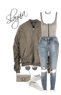 """Chill"" by slaynia ❤ liked on Polyvore featuring Oliver Peoples, Lisa Marie Fernandez, River Island, Gucci, Vans and Ettika"