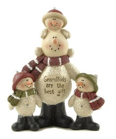 Another great find on #zulily! 'Grandkids Are the Best Gift' Snowman Kids Figurine #zulilyfinds
