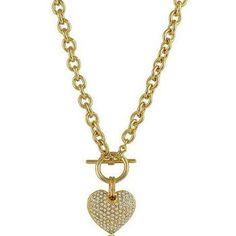 Gold Tone Puffed Heart Necklace – JaeBee Jewelry
