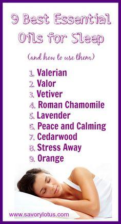 Insomnia remedies: 9 Best Essential Oils for Sleep - www.savorylotus.com #sleep #naturalremedies #essentialoils