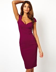 ASOS Sexy Pencil Dress With Bust Detail