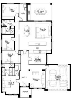 Addison 4 - Dechellis Homes House Plans, Floor Plans, House Design, Flooring, How To Plan, Homes, Life, Houses, Plants