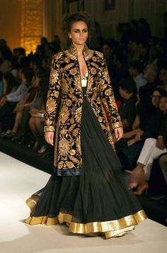 Rohit Bal Lengha with Jacket - women's cotton shirts blouses, no sleeve blouse, button down chiffon blouse *ad Rohit Bal, Couture Mode, Couture Fashion, Women's Fashion, Fashion Weeks, Fashion Dresses, Indian Bridal Wear, Indian Wear, Indian Style