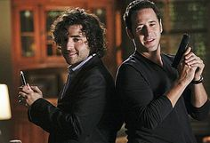 Rob Morrow from Numb3rs with David Krumholtz
