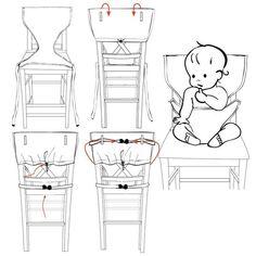 Trona Portatil de Viaje para Bebe | Tronas para Sillas | Ideal para comer fuera…