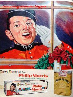 ISA MUNANG PATALASTAS: 143. Call for Philip Morris! SEASON'S GREETINGS! (... Vintage Ads, Vintage Antiques, Rescue Vehicles, Manila, Philippines, Nostalgia, Advertising, Seasons, Baseball Cards