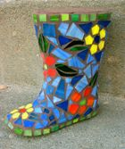 Mama Katz Mosaics   Well made boot. Large pieces.