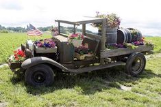 This is one way to get new life out of a vintage vehicle that will never move again! Container Gardening Ideas: a Vintage Truck Used as a Planter  Image used under a creative commons licence with the kind permission of swainboat and Flickr