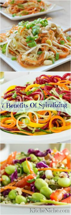 Learn 7 benefits of spiralizing vegetables http://kitcheniche.com/7-benefits-of-spiralizing.html