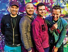Coldplay, left to right: Johnny Buckland, Will Champion, Guy Berryman and Chris Martin