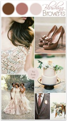 Blush and Brown Wedding Ideas perfect for fall weddings!