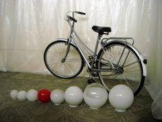 bike: 1 em armazém; globos: vários em armazém