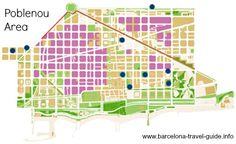 Literally New Village in Catalan, El Poblenou is both an area of Barcelona occupying over half of the District of Sant Martí and a neighbourhood centred on the Rambla del Poblenou and the old historic centre.