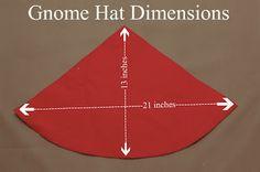 gnome hat dimensions