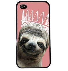 Princess Sloth iPhone Case. Such a pretty pretty sloth.