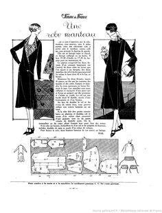 page 21 1920s Outfits, Vintage Outfits, Vintage Fashion, Fashion 1920s, Vintage Sewing Patterns, Clothing Patterns, Dot Patterns, Diy Couture Foulard, Style Année 20