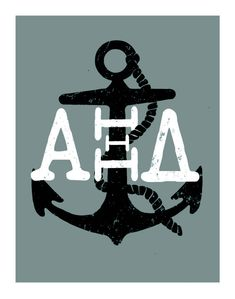 Alpha Xi Delta Anchor Printable by BlessYourHeartBelles on Etsy