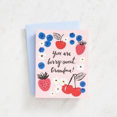 Berry Sweet Grandma Mother's Day Card - Greeting Cards | Paper Source #mothersday #mothersdaygift #mothersdaycard #makemomsday