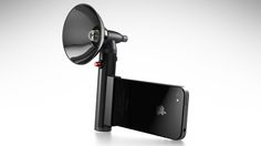 Paparazzo Light: External retro-looking flash for your iPhone - GadgetLite - Latest gadgets and technology news Cool Technology, Technology Gadgets, Technology Gifts, Iphone Accessories, Camera Accessories, Gadgets And Gizmos, Tech Gadgets, Latest Gadgets, Smartphone