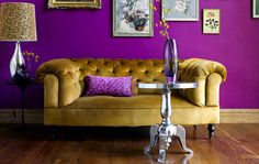 Bold colors and a chesterfield! (more appropriate for LSU fans though...)
