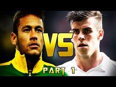 Neymar Jr vs Gareth Bale - Freestyle, Velocity & Dribbling - (Part 1)  2013