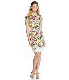Adrianna Papell Beaded Floral Print Dress   Adrianna papell and ...