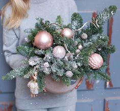 Christmas And New Year, Christmas Time, Christmas Wreaths, Christmas Crafts, Christmas Decorations, Xmas, Holiday Decor, Christmas Hanging Baskets, Angel Flowers