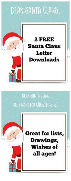 Printable Letter to Santa Claus envelope template -Cute Santa Stamp ...