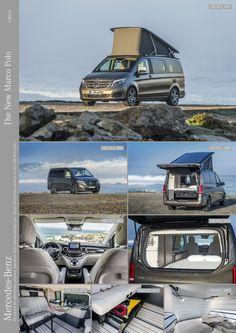 Mercedes Vito Camper, Mercedes Benz Vans, Mercedes Van, Car Camper, Camper Trailers, Transporteur Volkswagen, Motorhome, Combi Vw, Marco Polo