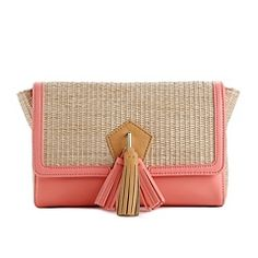 $29 CopyKate's straw bags: Danielle Nicole Color Block Namane Clutch