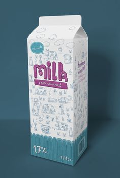 Milk Packaging on Behance