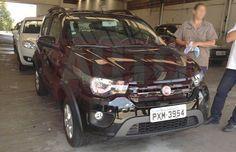 FIAT Mobi aparece de frente em novo flagra (Foto: reprodução).