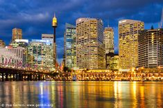 Sydney City from Darling Harbour, Sydney, New South Wales, Australia