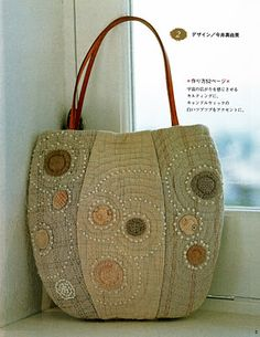 Bag, could use tattered old quilts and embellish.