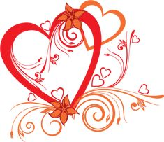 Red and Orange Heart