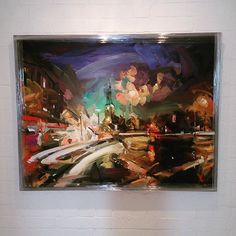 Ready for our next show We Have Contact, brand new Paul Wright 'The Long Drive Home' #paulwright #painting #colour