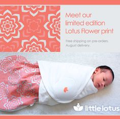 Little Lotus Sleep Bag Sack in S,M,or L with 2 colors options NASA fabric