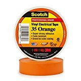 Scotch Vinyl Color Coding Electrical Tape 35 3/4 in x 66 ft Orange