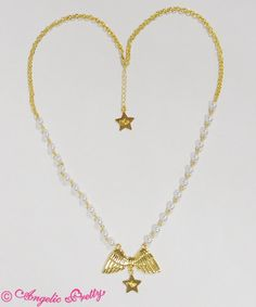 Etoile Feather Necklace Gold