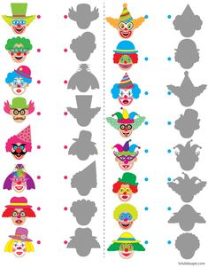 1 million+ Stunning Free Images to Use Anywhere Clown Crafts, Circus Crafts, Math Activities For Kids, Christmas Activities, Theme Carnaval, Visual Perception Activities, Le Clown, English Worksheets For Kids, Free To Use Images